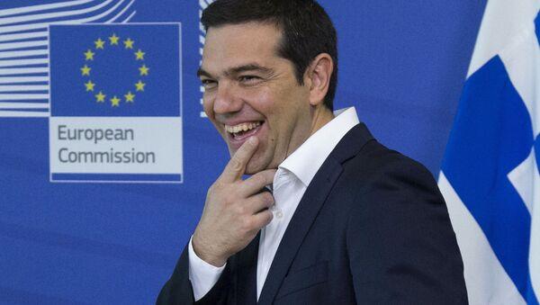 Thủ tướng Hy Lạp Alexis Tsipras tại hội nghị thượng đỉnh khẩn cấp ở Brussels - Sputnik Việt Nam