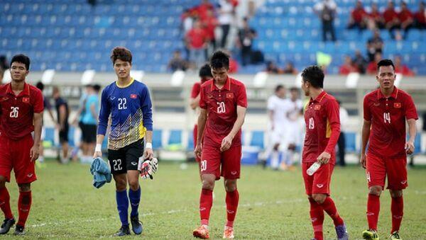 Thủ môn Phí Minh Long sau thất bại trước Thái Lan tại SEA Games 2017 - Sputnik Việt Nam