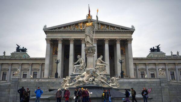 Tòa nhà lịch sử của Quốc hội Áo ở trung tâm Vienna - Sputnik Việt Nam
