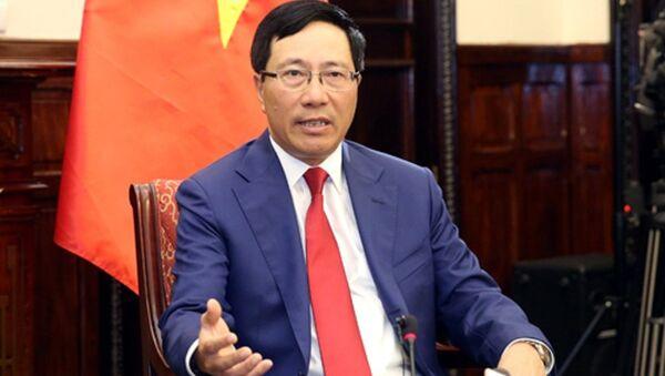 Phó Thủ tướng Phạm Bình Minh khẳng định chính cuộc đấu tranh của nhân dân ta đã đóng góp vào việc LHQ thông qua Nghị quyết về việc trao trả độc lập cho các nước thuộc địa, dân tộc thuộc địa - Sputnik Việt Nam