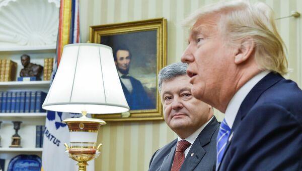 Tổng thống Mỹ Donald Trump đã tổ chức một cuộc họp với Tổng thống Ukraina Piotr Poroshenko. - Sputnik Việt Nam