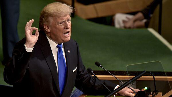 Tổng thống Hoa Kỳ Donald Trump phát biểu tại cuộc họp Đại hội đồng LHQ ở New York - Sputnik Việt Nam