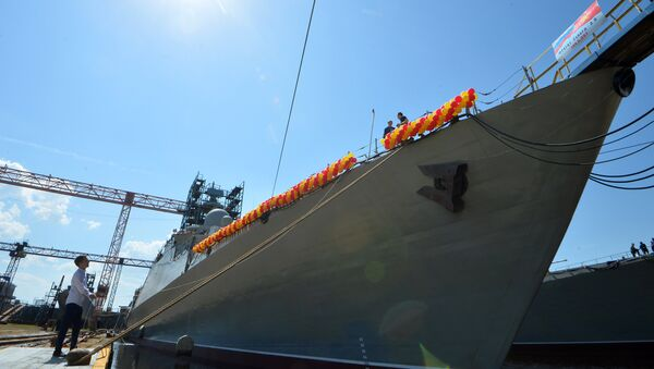 Hạ thủy tàu Gepard 3.9 xây dựng cho Hải quân Việt Nam - Sputnik Việt Nam