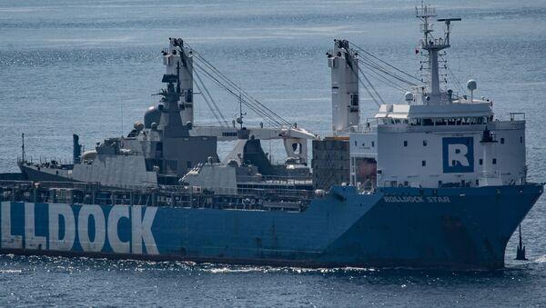 Tàu Rolldock Star (Hà Lan) chở theo chiến hạm Gepard 3.9 của Hải quân Việt Nam (trước đó mang số hiệu tạm 486). - Sputnik Việt Nam