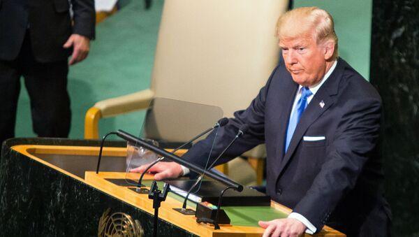 Tổng thống Mỹ Donald Trump tại Đại hội đồng Liên Hợp Quốc - Sputnik Việt Nam