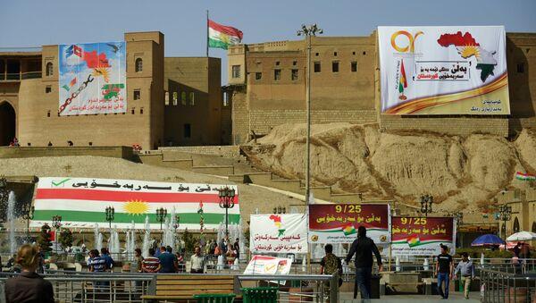 Cử tri đi bỏ phiếu trưng cầu dân ý ở Kurdistan Iraq, Erbil - Sputnik Việt Nam