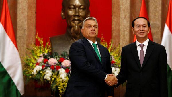 Chủ tịch nước Trần Đại Quang tiếp Thủ tướng Hungary Orbán Viktor đến chào xã giao - Sputnik Việt Nam