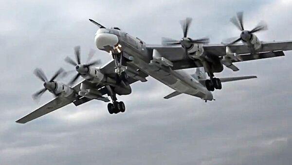 máy bay ném bom chiến lược Nga mang tên lửa Tu-95MS - Sputnik Việt Nam