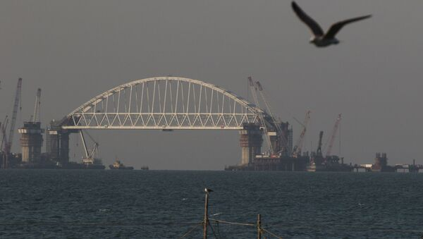 Строительство моста через Керченский пролив - Sputnik Việt Nam