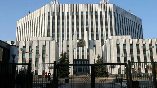 Tòa nhà Học viện Quân sự trực thuộc Bộ Tổng tham mưu các lực lượng vũ trang Nga ở Matxcơva - Sputnik Việt Nam