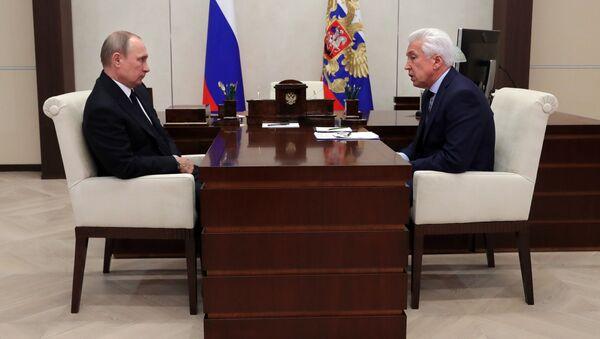 Tổng thống Vladimir Putin và  Vladimir Vasiliev - Sputnik Việt Nam
