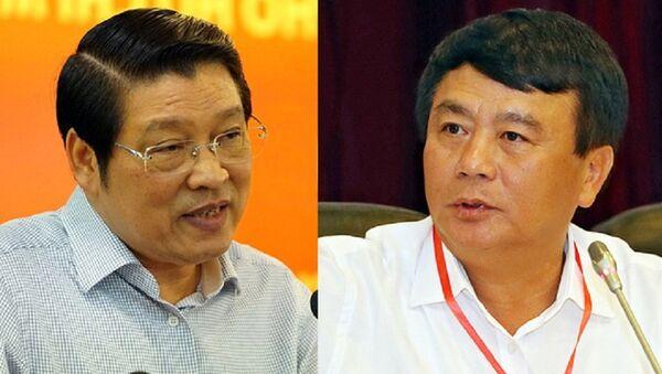 Ông Phan Đình Trạc (trái) và Nguyễn Xuân Thắng - Sputnik Việt Nam