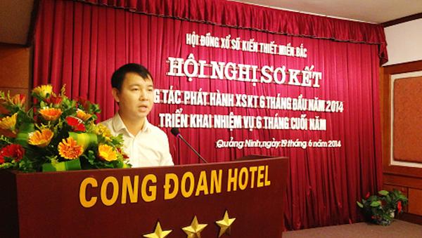 Ông Tống Quốc Trường - Tổng giám đốc Vietlott phát biểu tại Hội nghị - Sputnik Việt Nam