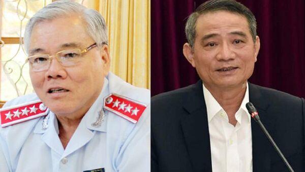 Tổng Thanh tra Chính phủ Phan Văn Sáu (trái) và Bộ trưởng Bộ Giao thông vận tải Trương Quang Nghĩa. - Sputnik Việt Nam