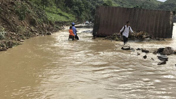 Lũ lụt ở tỉnh Sơn La. - Sputnik Việt Nam