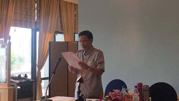 Ông Nguyễn Minh Mẫn tại cuộc họp báo sáng 15.10 - Sputnik Việt Nam