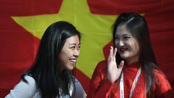 Đại biểu Việt Nam tham gia Festival Thanh niên và Sinh viên thế giới lần thứ XIX tại Sochi. - Sputnik Việt Nam