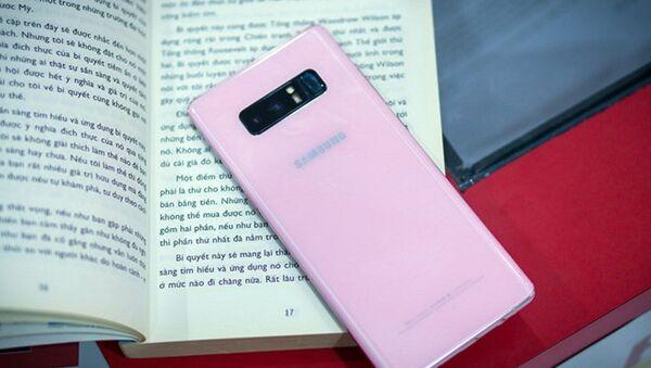 Phiên bản màu hồng của Galaxy Note 8 đã có mặt tại một số cửa hàng ở TP.HCM. - Sputnik Việt Nam