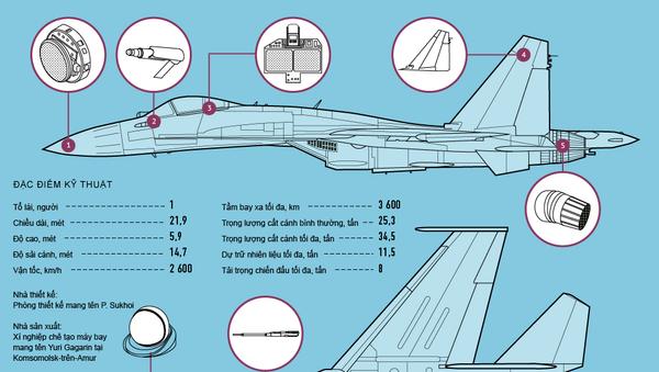 Chiến đấu cơ Su-35S - Sputnik Việt Nam