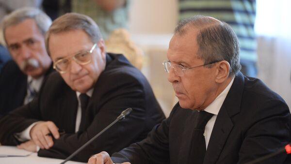 Cuộc họp của các Ngoại trưởng Nga và Syria, ông S. Lavrov và ông W. Muallem - Sputnik Việt Nam
