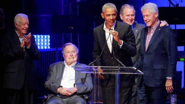 5 cựu tổng thống Mỹ hội tụ vì nạn nhân bão - Sputnik Việt Nam