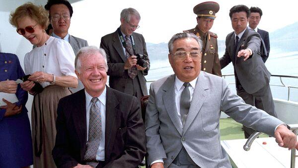 Jimmy Carter và Kim Il Sung - Sputnik Việt Nam