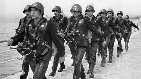 Những người lính biệt kích-trinh sát của Thủy quân lục chiến Liên Xô. - Sputnik Việt Nam