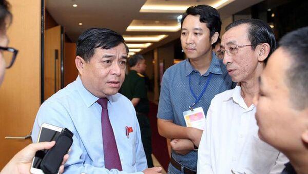 Bộ trưởng KH-ĐT Nguyễn Chí Dũng - Sputnik Việt Nam