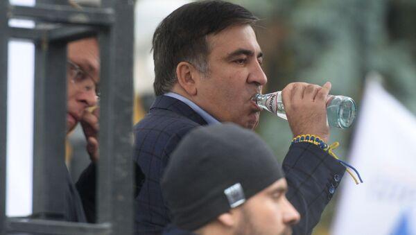Экс-губернатор Одесской области Михаил Саакашвили на акции  с требованием реформ в Киеве - Sputnik Việt Nam