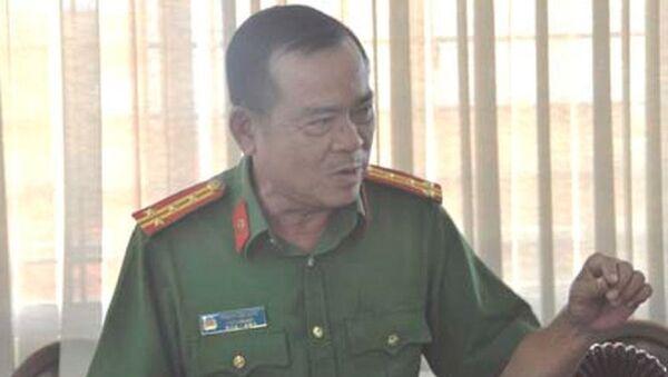 Đại tá Phạm Hữu Châu, Phó giám đốc Công an tỉnh Long An. - Sputnik Việt Nam