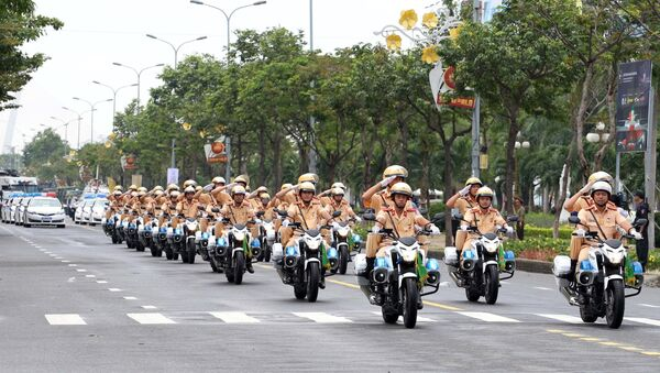Вьетнам атэс саммит полиция подготовка полицейский - Sputnik Việt Nam