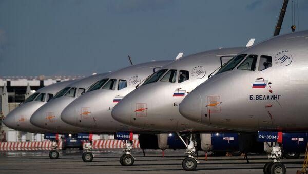 máy bay Nga Sukhoi Superjet 100  - Sputnik Việt Nam