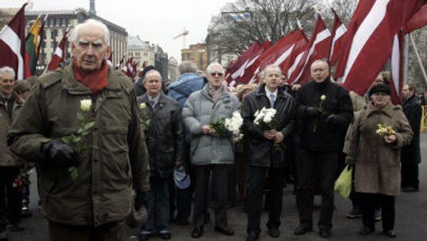 Lễ rước đoàn quân Waffen SS và những người ủng hộ họ ở Riga - Sputnik Việt Nam