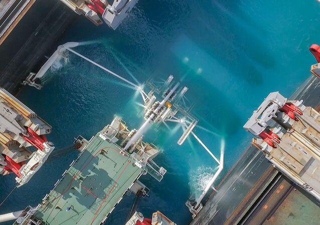 Lắp đặt  đường ống dẫn khí khu vực biển  sâu Dòng chảy Thổ Nhĩ Kỳ
