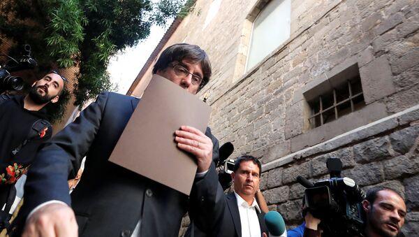 Cựu Thủ hiến Catalonia Carles Puigdemont - Sputnik Việt Nam