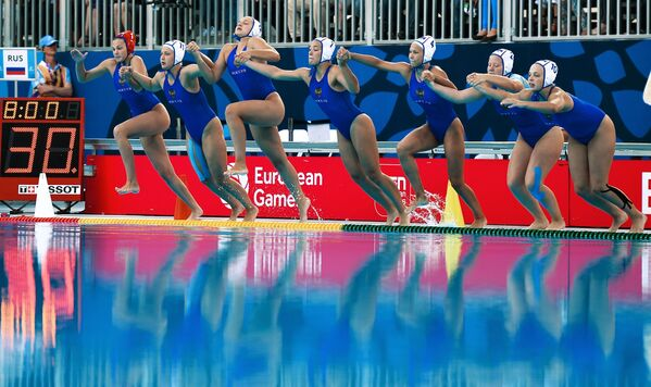 Thành viên đội tuyển Nga tại Giải vô địch châu Âu lần I ở Baku - Sputnik Việt Nam