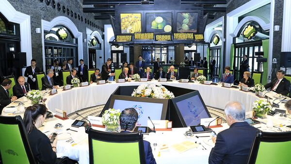 Chủ tịch nước Trần Đại Quang chủ trì buổi ăn trưa làm việc của các Nhà lãnh đạo Kinh tế APEC - Sputnik Việt Nam