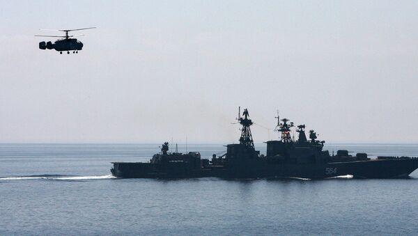 Совместный выход в море кораблей Тихоокеанского флота для отработки задач боевой подготовки - Sputnik Việt Nam