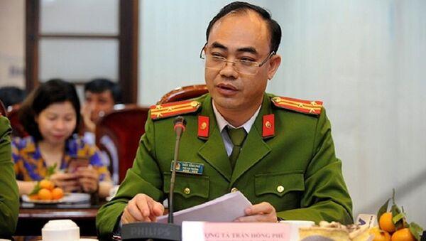 Thượng tá Trần Hồng Phú, Phó cục trưởng Cục cảnh sát đăng ký, quản lý cư trú và dữ liệu quốc gia về dân cư . - Sputnik Việt Nam