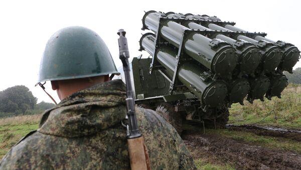 Tổ hợp tên lửa phòng thủ bờ biển Bal phóng tên lửa chống hạm trong khuôn khổ cuộc tập trận Phương Tây-2017 - Sputnik Việt Nam