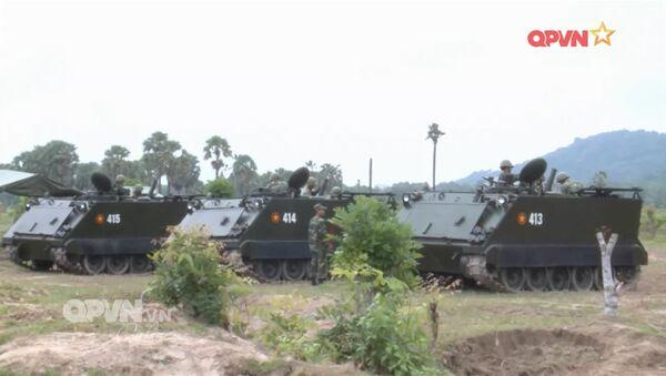 Cối tự hành 100 mm gắn trên khung gầm thiết giáp M113 của Việt Nam - Sputnik Việt Nam