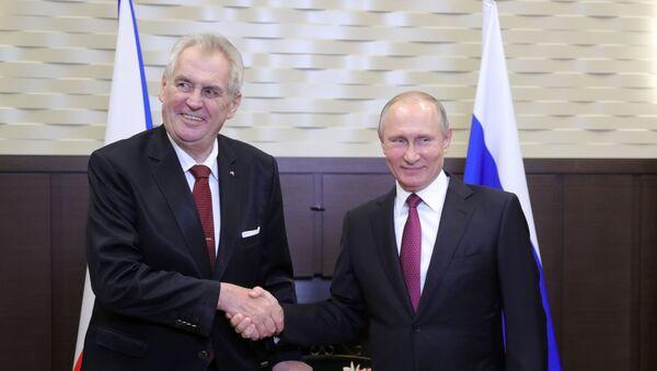Tổng thống Cộng hòa Séc Miloš Zeman tại cuộc họp với Tổng thống Nga Vladimir Putin - Sputnik Việt Nam