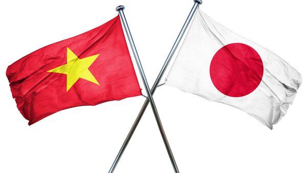 quốc kỳ Việt Nam và Nhật Bản - Sputnik Việt Nam