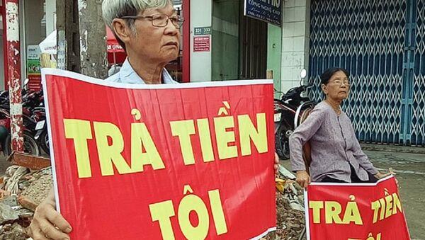 Ông Hoàng Văn Lục nói ông gửi vào Quỹ tín dụng Thái Bình gần 8 tỷ đồng. - Sputnik Việt Nam