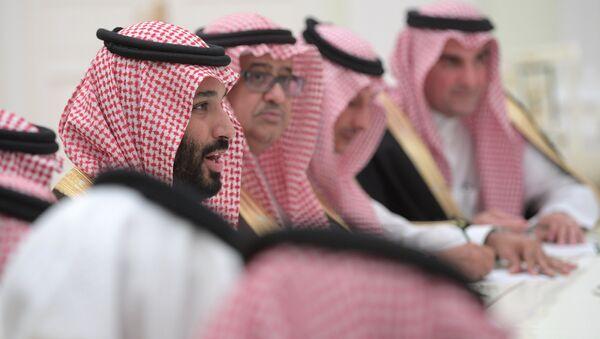 Cuộc họp của Tổng thống Nga Vladimir Putin với Phó Hoàng thái tử của Ảrập Xêút Muhammad ibn Salman Al Saud - Sputnik Việt Nam