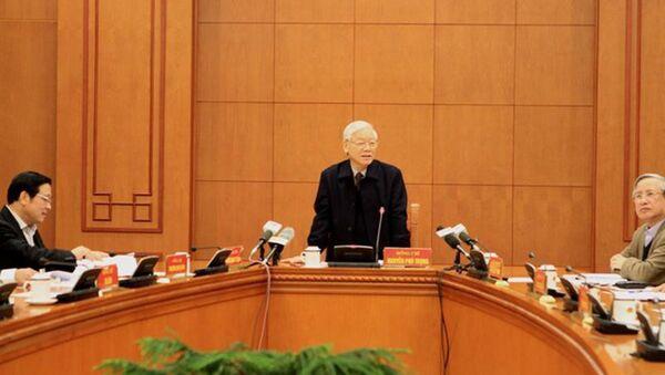 Tổng Bí thư Nguyễn Phú Trọng chỉ đạo tập trung, khẩn trương kết thúc điều tra đưa các vụ án như vụ Trịnh Xuân Thanh. - Sputnik Việt Nam