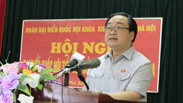 Ông Hoàng Trung Hải phát biểu với cử tri - Sputnik Việt Nam