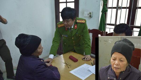 Nghi can Phạm Thị Xuân tại cơ quan công an - Sputnik Việt Nam