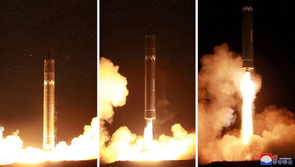 phóng tên lửa đạn đạo Hwasong-15 - Sputnik Việt Nam