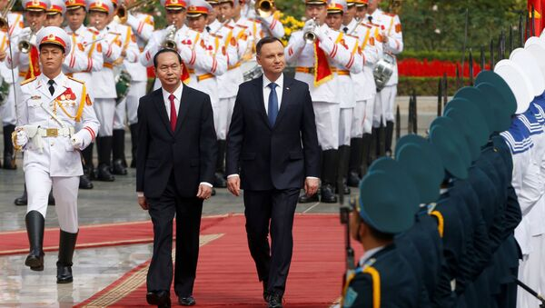 Tổng thống Ba Lan Andrzej Duda và Chủ tịch nước CHXHCNVN Trần Đại Quang tại Hà Nội - Sputnik Việt Nam
